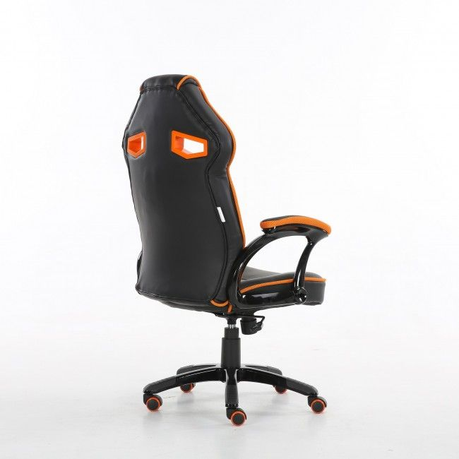 Marvelous Orange Bucket Racing Gaming Office Chair Machost Co Dining Chair Design Ideas Machostcouk