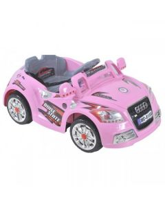 12v Pink Audi Battery Kids Electric Ride On Toy Car + Parental Remote Control Mp3