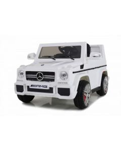 Licensed White 12v Mercedes G63 AMG Ride on Jeep with Parental Remote Control