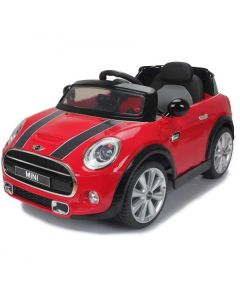 Licensed 12v Ride On Electric Red Mini Cooper Car with Parental Remote Control