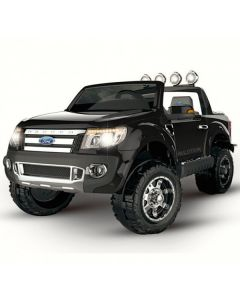 Black 12v Licensed Ford Ranger Pickup Truck Ride on 2 seater