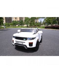 White SUV Jeep Style 12v Electric Ride On Car + Parental Remote Control