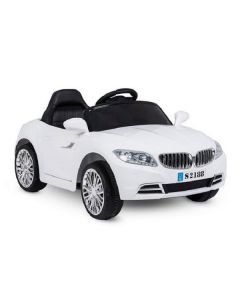 12v White Coupe Style Ride on Car with Remote Control
