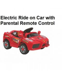 Red Ferrari Style Electric Ride on Car with Parental Remote Control