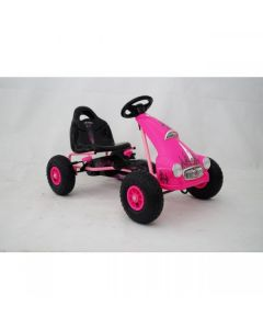 Kids Ride on Pedal Go Kart - Pink