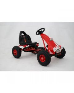 Kids Ride on Pedal Go Kart - Red