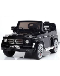 Licensed Black 12v Mercedes G63 AMG Ride on Jeep with Parental Remote Control