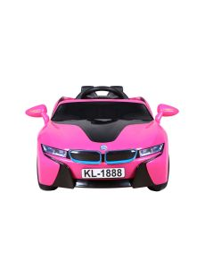 Pink Sport Style 12v Electric Ride On Car + Parental Remote Control