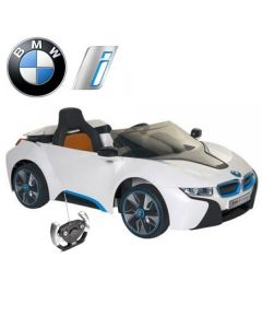 Official Licensed BMW i8 12v Electric Ride On Car + Parental Remote Control White