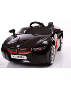 Black Sports Style 12v Electric Ride On Car + Parental Remote Control