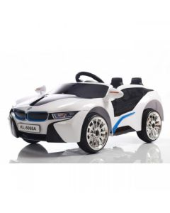 White Sport Style 12v Electric Ride On Car + Parental Remote Control