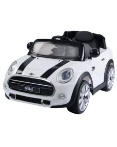 Licensed 12v Ride On Electric White Mini Cooper Car with Parental Remote Control