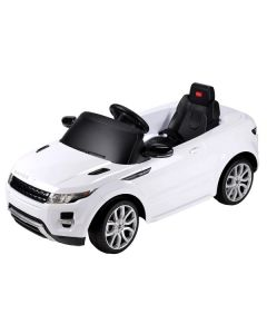 Licensed White Range Rover Evoque 12v Electric Ride On Car + Parental Remote Control